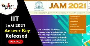 IIT JAM 2021 Answer key and question paper in hindi min 1 min