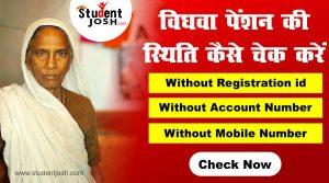 UP Vridha Widow pension yojana status wihout mobile number