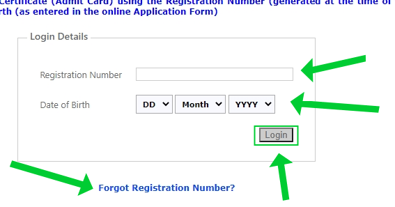 How to download ASRAB NET ARS SHATO Admit Card