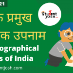 Major Geographical Surnames of India 2021